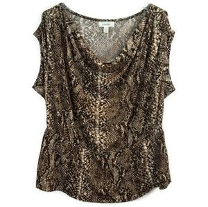 Dress Barn Snake Skin Print Blouse Top Shirt